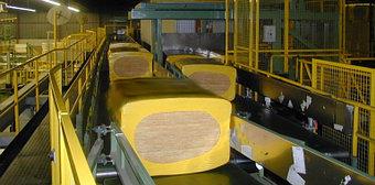 Производство мин плиты Isover 2