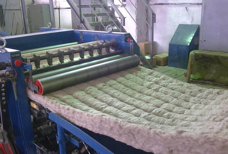 Производство прошивной минеральной ваты