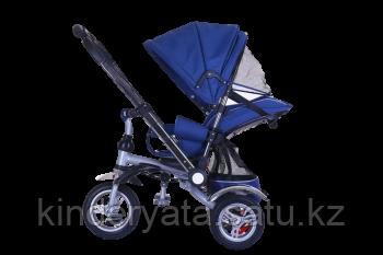 Детский трехколесный велосипед-коляска с перекидной ручкой  TSTX010 (синий)