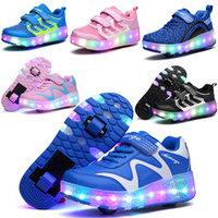 Роликовые кроссовки со светящейся подошвой, фото 1
