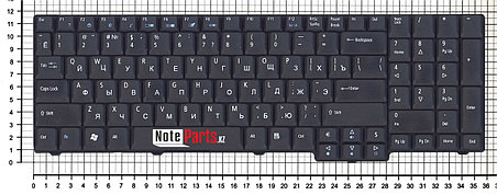 Клавиатура для ноутбука Acer Aspire 9400/ AS7000, RU, черная, фото 2