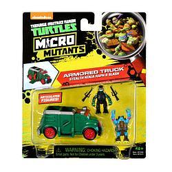 """Черепашки ниндзя """"Микро мутанты"""" Рафаэль и Слэш на Бронированном грузовике"""