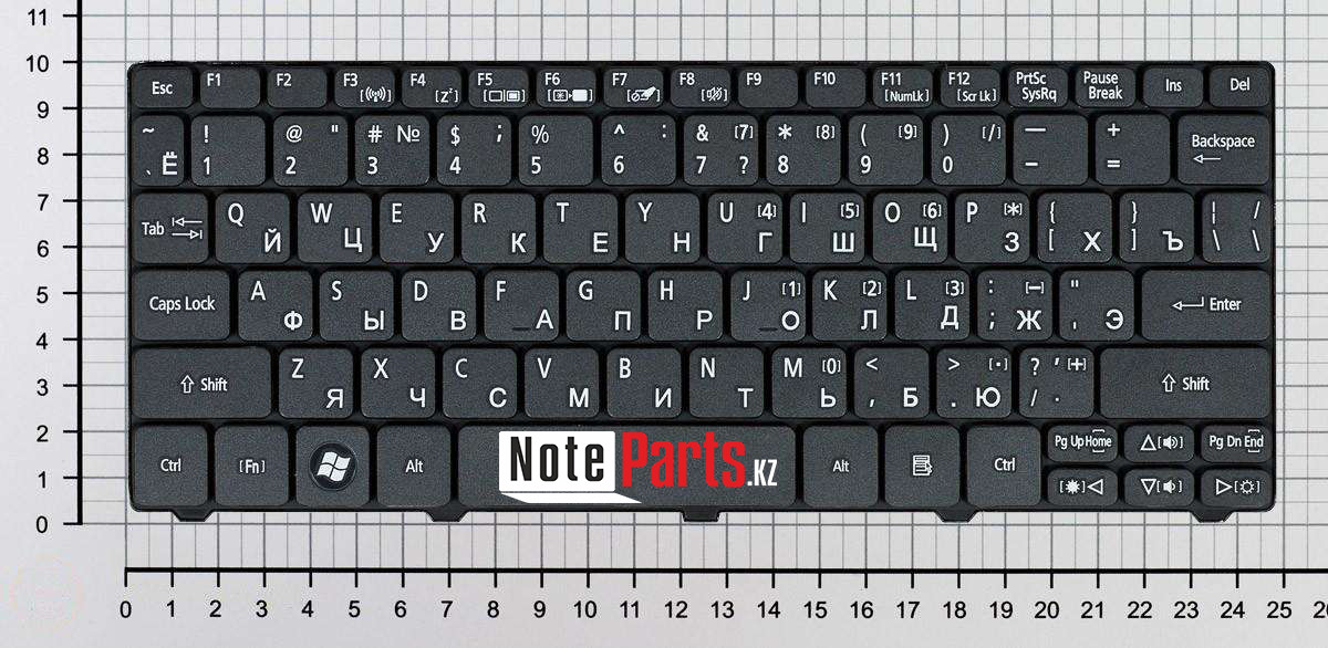 Клавиатура для ноутбука Acer Aspire One D260/ Gateway LT21, RU, черная
