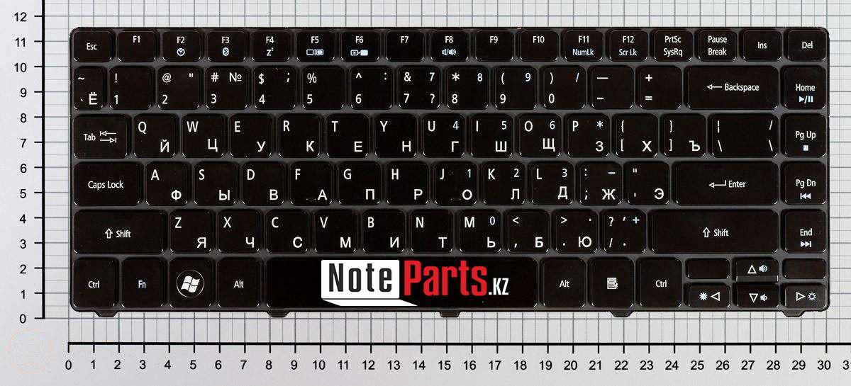 Клавиатура для ноутбука Acer Aspire 3810T, RU, черная