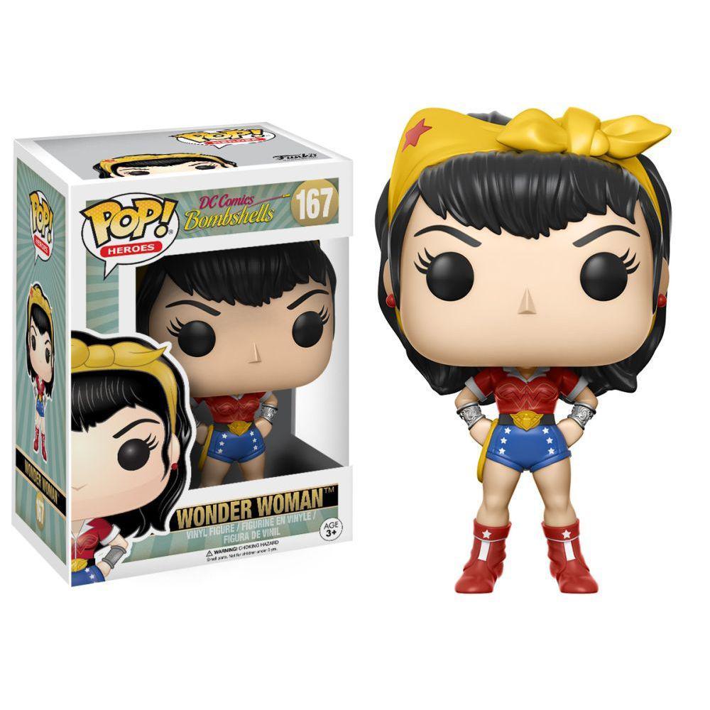 "Funko POP! Heroes ""DC Comics Bombshells"" Виниловая фигурка Чудо Женщина №167"