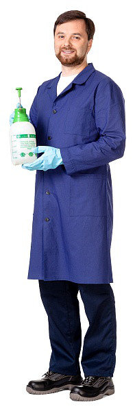 Халат мужской рабочий из ткани бязь