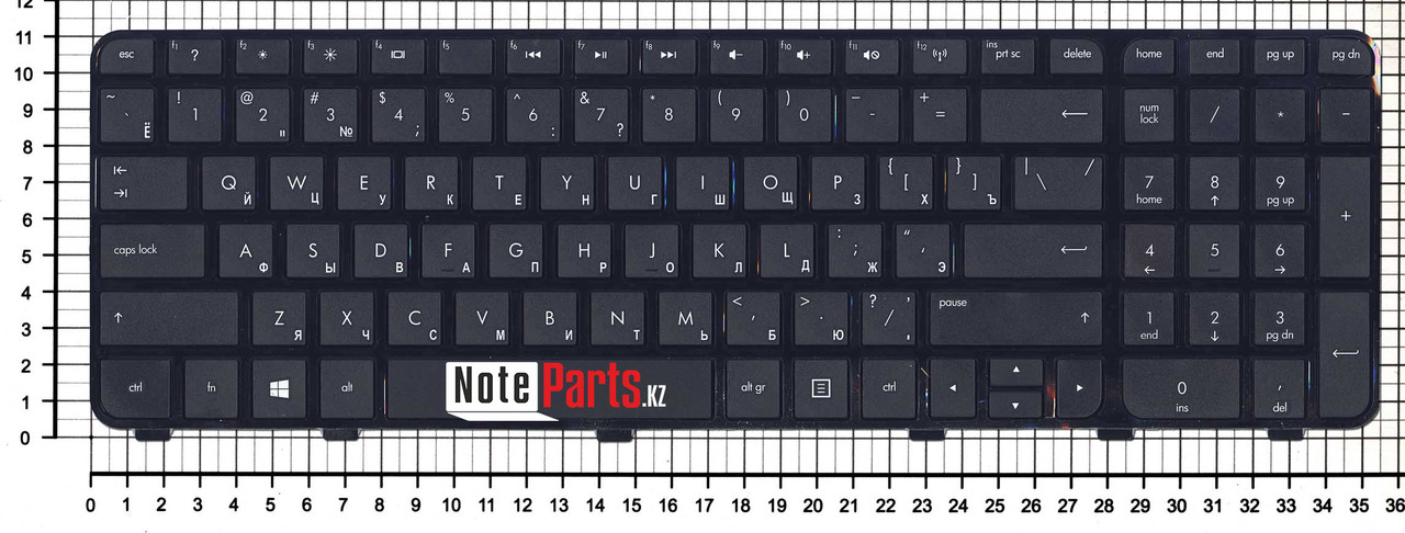 Клавиатура для ноутбука HP Envy dv6-7000, черная с рамкой