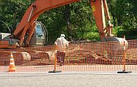Аварийное ограждение, пластиковая сетка А-95/1,2/50, высота 1,2 м., фото 1