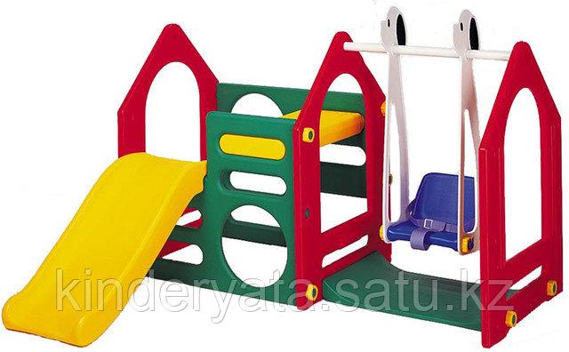Haenim toys Дом с горкой и качелями Ds-702a