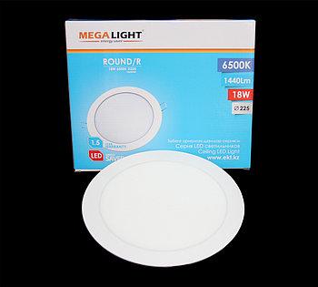 Светильник LED СПОТ ВСТР. ROUND/R 18w (MEGALIGHT)