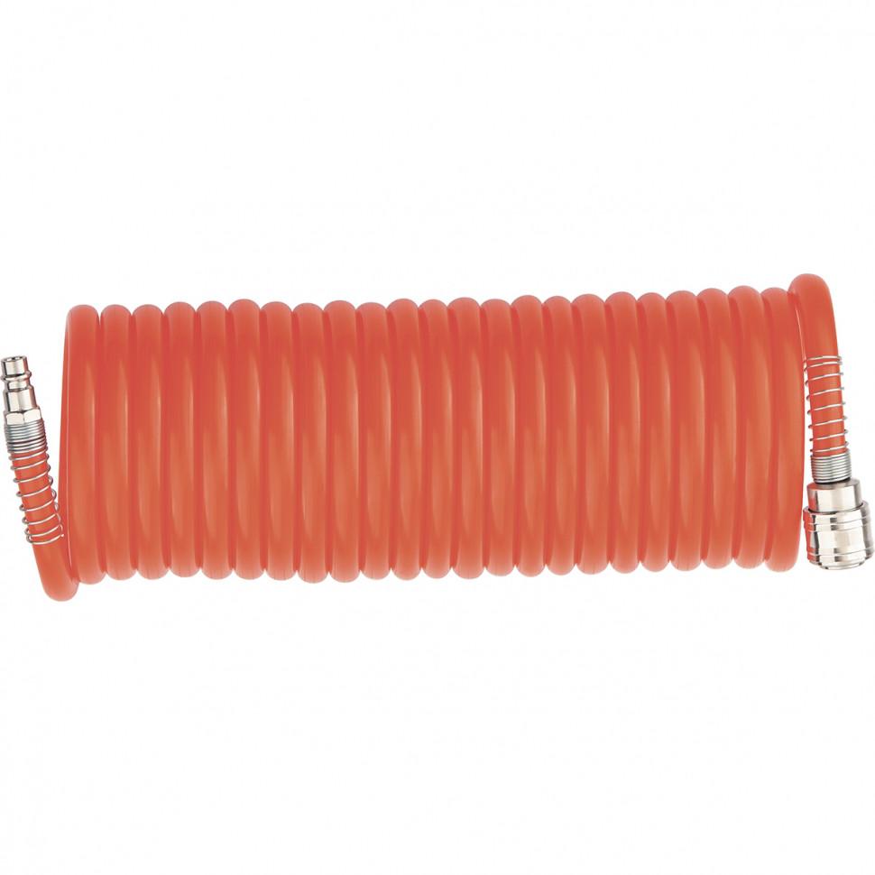 (57002) Шланг спиральный воздушный, 5 м, с быстросъемными соединениями// MATRIX