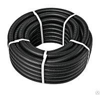 Труба ПВХ гибкая гофрированная. д.20мм, лёгкая с протяжкой,100м, цвет черный, фото 1