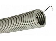 DKC Труба ПВХ гибкая гофр. д.50мм, тяжёлая с протяжкой, 15м, цвет серый, фото 1