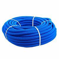 DKC Труба ППЛ гибкая гофр. д.16мм, лёгкая без протяжки, 100м, цвет синий, фото 1
