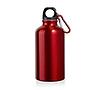 Бутылка для питья с карабином цвет: красный