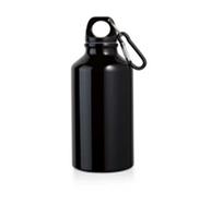 Спортивная бутылка, цвет черный, алюминий, 400 мл