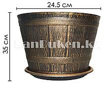 Горшок для цветов Ведро 35х24.5 см