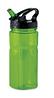 Пластиковая фляга для воды с удобным дозатором, 600 мл. Цвет прозрачный/зеленый