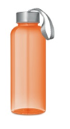 Бутылка для питья из высококачественного пластика (тритана). Объем 500 мл. Цвет прозрачный/оранжевый