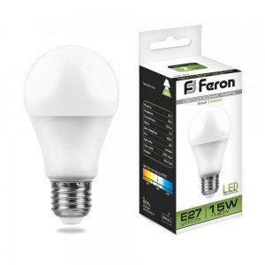 Лампа светодиодная LB-94 (15W) 230V E27 4000K A60