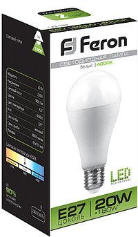 Лампа светодиодная LB-98 (20W) 230V E27 4000K A65