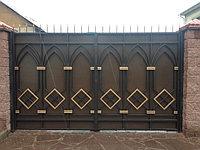 Красивый дизайн ворот.