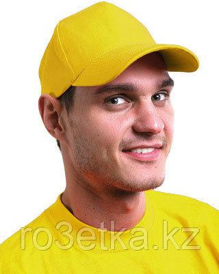 """Кепка -""""бейсболка"""" велюровая желтая"""