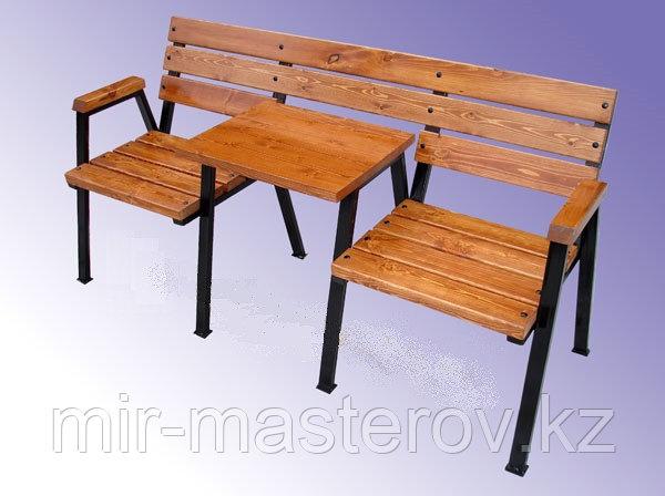 Скамейка уличная со столиком
