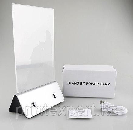 Зарядное устройство Power bank menu 13000 mah серебро в комплекте, фото 2