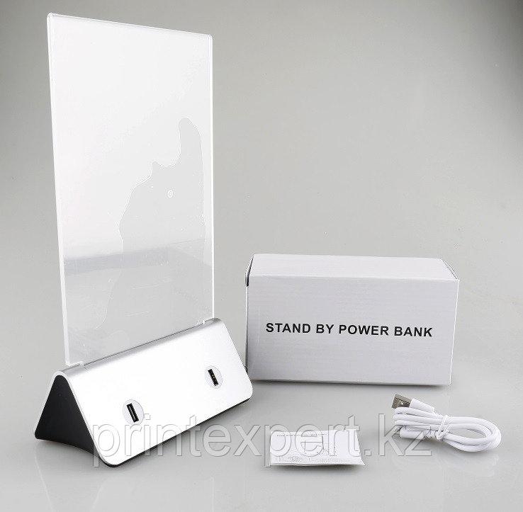 Зарядное устройство Power bank menu 13000 mah серебро в комплекте