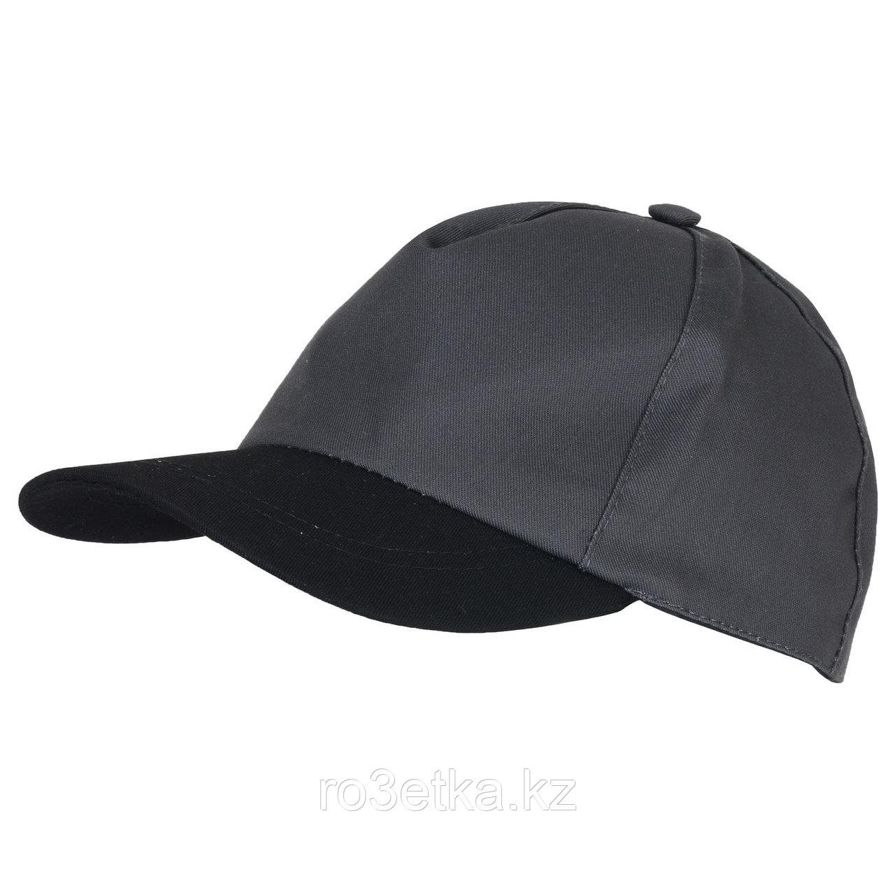 Кепка Бейсболка т.серая с черным козырьком (тк. Rodos)