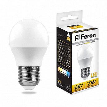 Лампа светодиодная LB-95 (7W) 230V E27 6400K G45