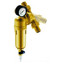 """Фильтр Гейзер Бастион 7508095201 с манометром для холодной и горячей воды 3/4"""""""