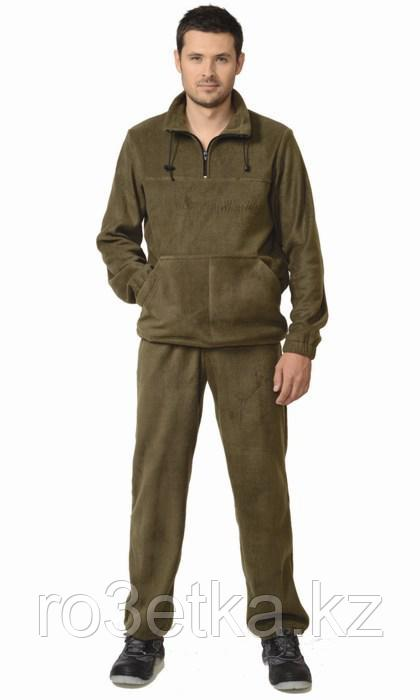 Костюм флисовый: джемпер, брюки оливковый