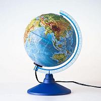 Глобус GLOBEN Физико-политический рельефный 320 с подсветкой Евро, фото 1