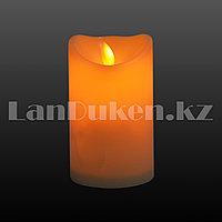 LED свеча задуваемая 7.5х12.5 см средняя