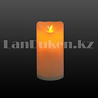 LED cвеча задуваемая 7.5х15 см большая