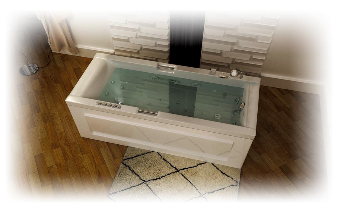 Акриловая ванна АЛЕКСАНДРИЯ-150*75*63