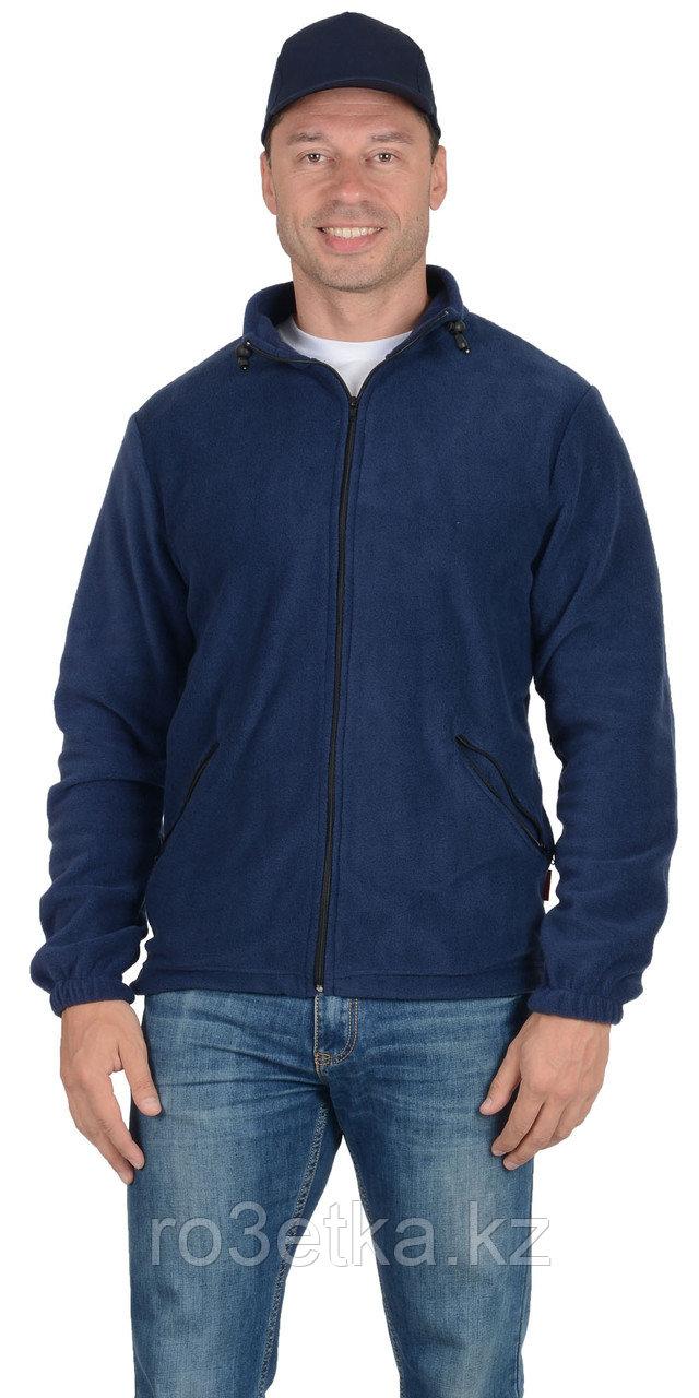 Куртка флисовая AG 260 г/кв.м. мужская тёмно-синяя