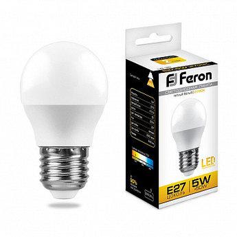 Лампа светодиодная LB-38 (5W) 230V E27 2700K G45