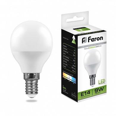 Лампа светодиодная LB-550 (9W) 230V E14 4000K G45