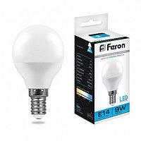 Лампа светодиодная LB-550 (9W) 230V E14 6400K G45