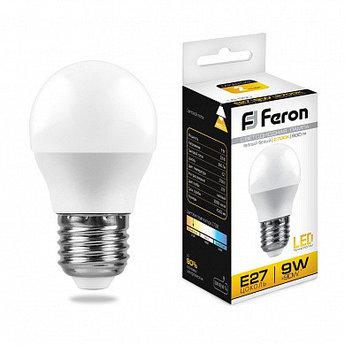 Лампа светодиодная LB-550 (9W) 230V E27 2700K G45
