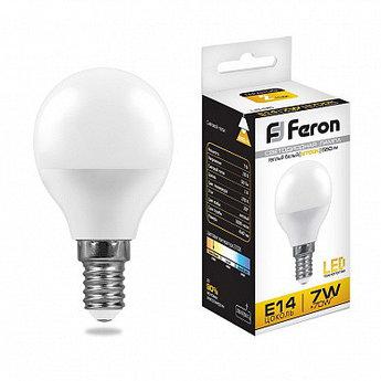 Лампа светодиодная LB-95 (7W) 230V E14 2700K G45