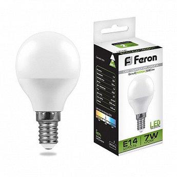 Лампа светодиодная LB-95 (7W) 230V E14 4000K G45