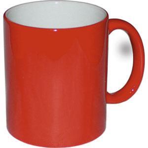 Кружка керамическая хамелеон красная