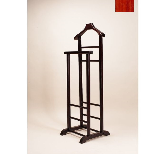Напольная вешалка для одежды двойная (ВН-002 вишня)