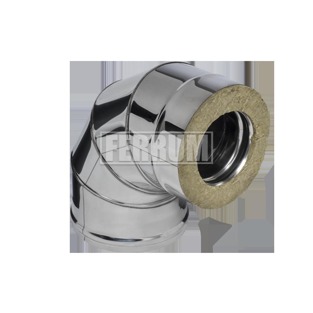 Сэндвич колено Ferrum 430/0,5мм 90° Ф120х200