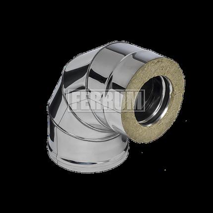 Сэндвич колено Ferrum 430/0,5мм 90° Ф120х200, фото 2