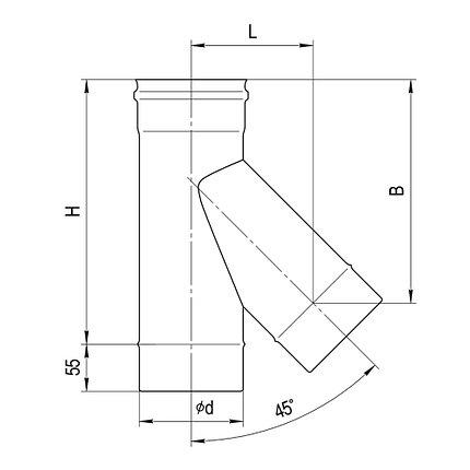 Тройник 135° Ferrum Ф 120, фото 2